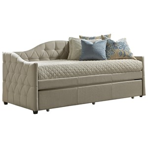 Upholstered Daybed with Trundle