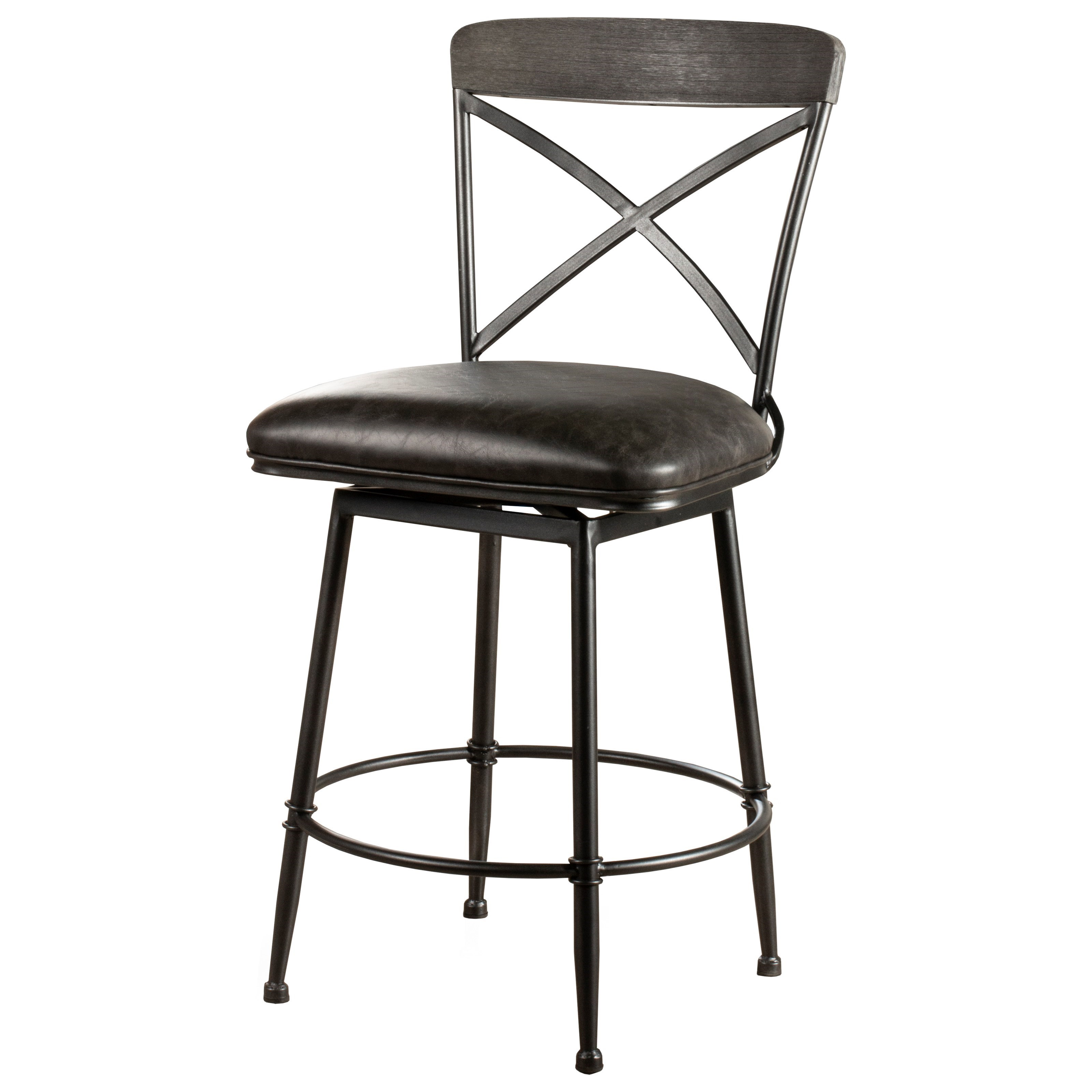 Decker Commercial Grade Swivel Counter Stool by Hillsdale at Darvin Furniture