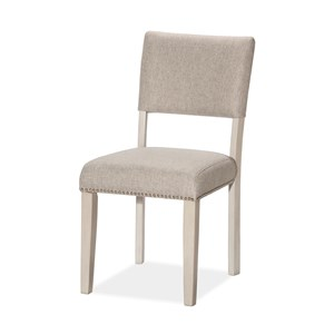 Upholstered Dining Chair with Nailhead Trim