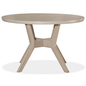 Round Dining Table with X-Beam Pedestal