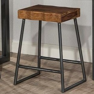 Live Edge Counter Height Stool