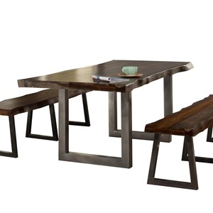 Natural Sheesham Wood Rectangular Dining Table