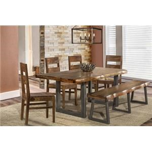 6 Piece Rectangle Dining Set With Bench