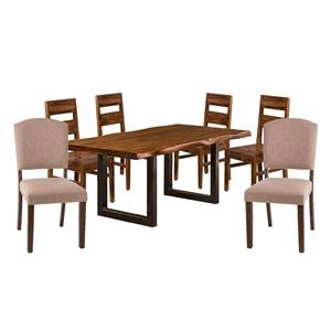 Table, 4 Chairs, 2 Upholstered Chair