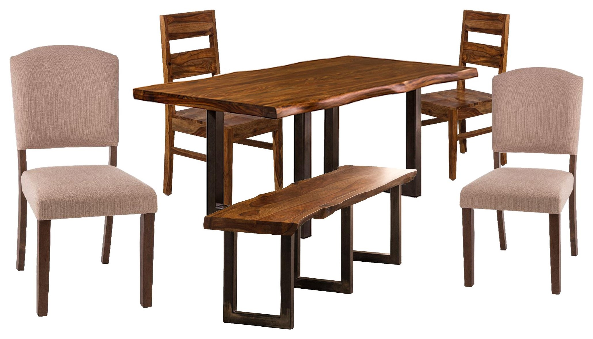 Emerson  Table, 2 Chairs, 2 Upholstered Chair, Bench by Hillsdale at Johnny Janosik