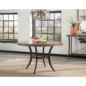 Round Dining Table with Stud Details