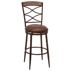 Swivel Counter Stool with Double X-Design