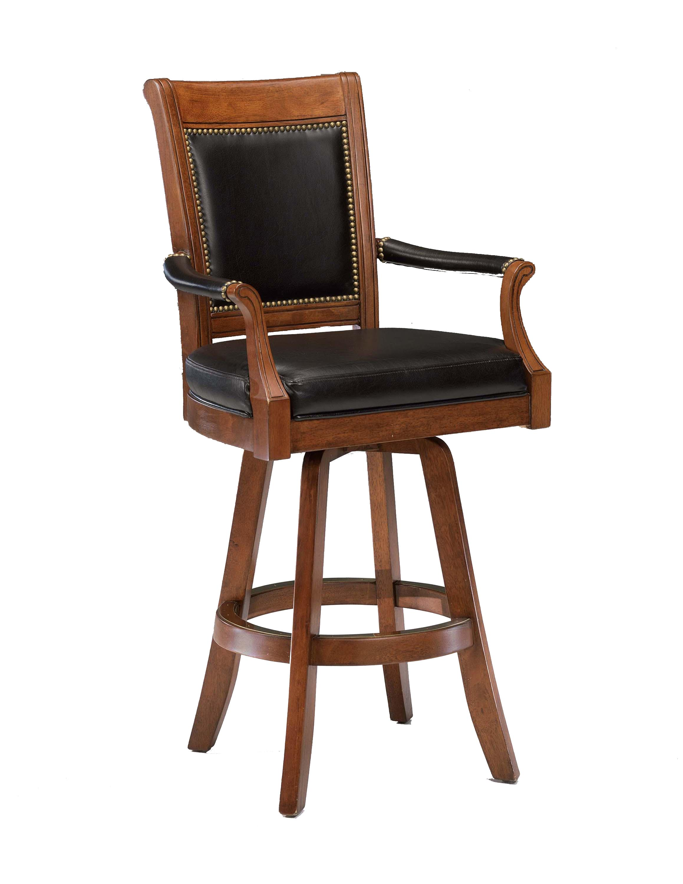 Game Stools & Chairs Kingston Game Swivel Leather Back Barstool at Ruby Gordon Home