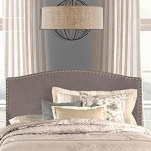 Queen Headboard with Frame Included and Nail-head Trim