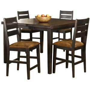 Hillsdale Killarney 5 Piece Counter Height Table & Stool Set