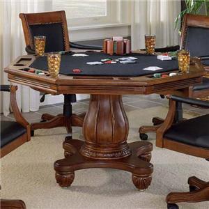 Single Pedestal Game Table