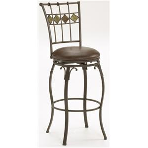 "Hillsdale Lakeview 24"" Slate Back Stool"