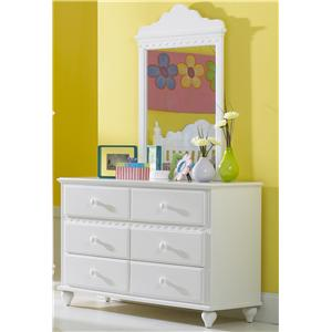 Hillsdale Lauren  6-Drawer Dresser & Mirror