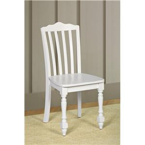 White Chair with Scalloped Back
