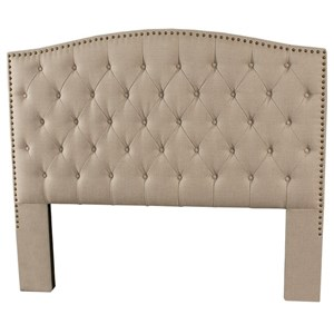 King Upholstered Headboard with Tufting