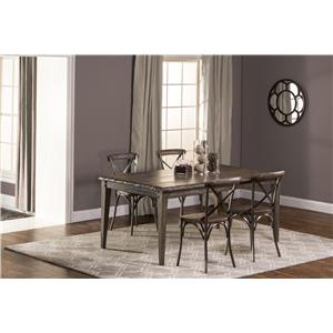 Hillsdale Lorient 5-Piece Rectangle Dining Set with X Back Din