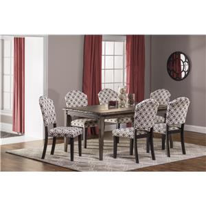 Hillsdale Lorient 7-Piece Rectangle Dining Set with Parsons Di