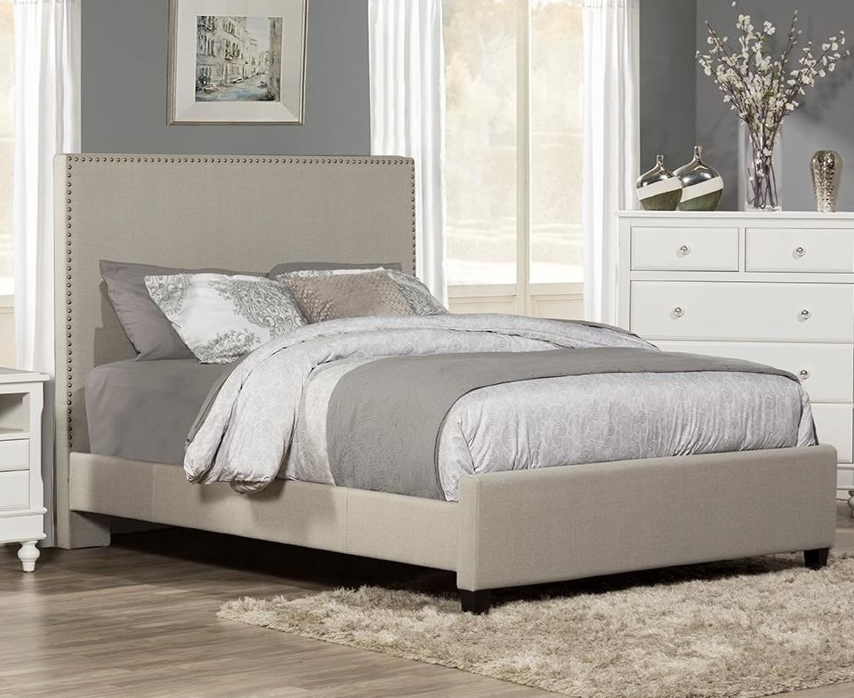 Megan King Upholstered Bed by Hillsdale at SuperStore