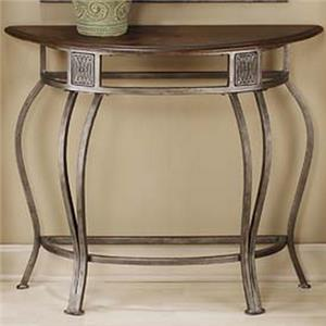 Console Table with Metal Base and Wood Top