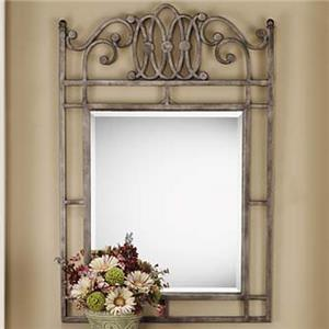 Console Mirror with Metal Frame