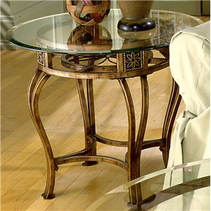 Scottsdale End Table with Flower Motif