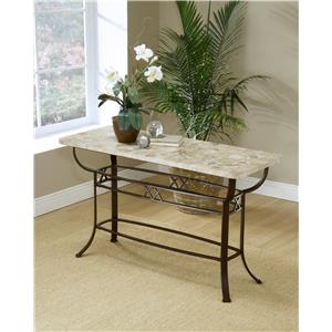 Hillsdale Occasional Tables Brookside Fossil Sofa Table