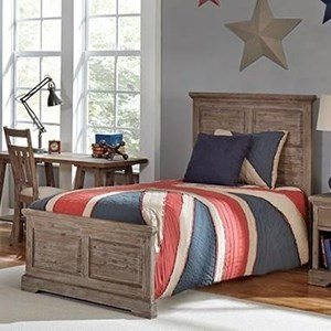 Twin Bed with Recessed Panels