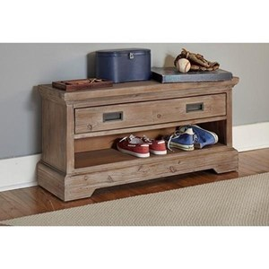 Dressing Bench with Drawer and Shelf