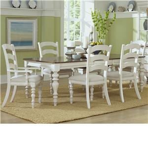 Hillsdale Pine Island Dining Table and Chair Set