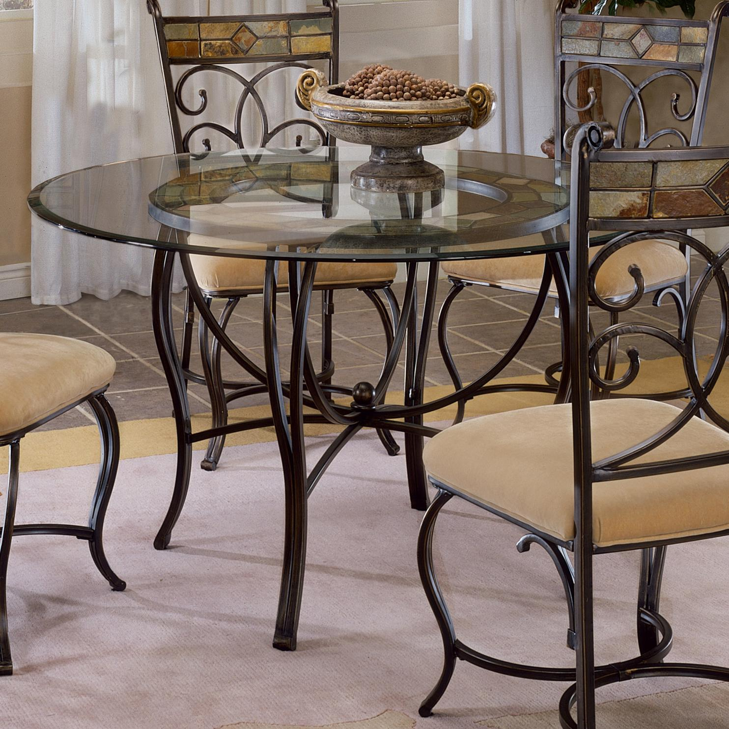 """hillsdale pompei 48"""" round dining table  powell's"""