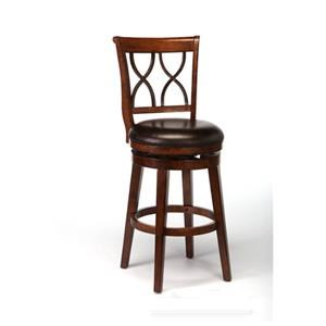 "Brown Cherry 26"" Swivel Counter Stool"