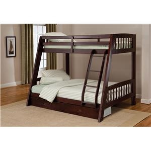 Twin-over-Full Bunk Bed with Storage Drawer