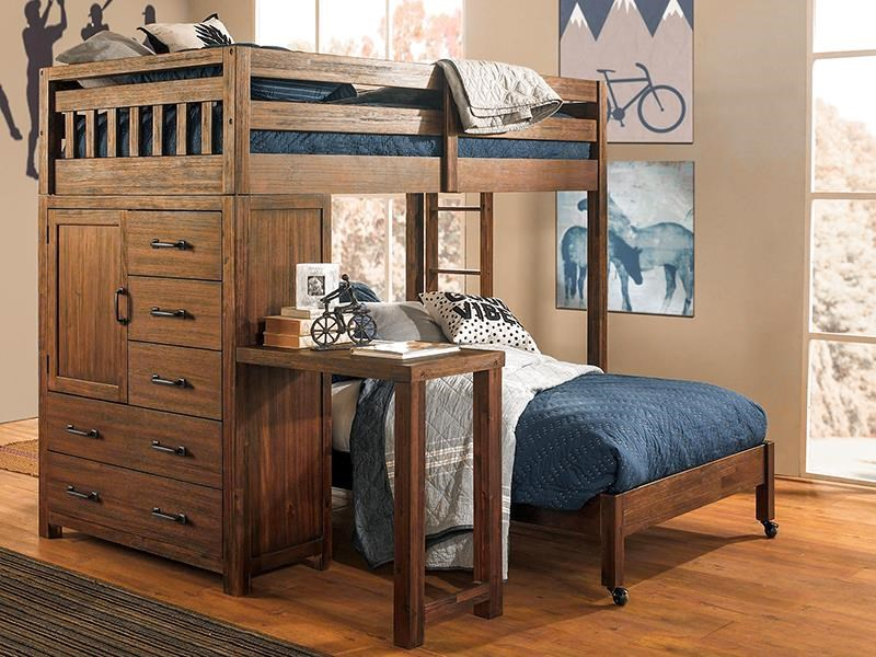 St. Croix Twin Loft Bed by Hillsdale at Darvin Furniture