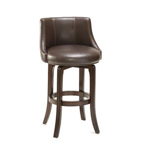 Hillsdale Napa Valley Stools Napa Valley Swivel Bar Stool - Black Vinyl