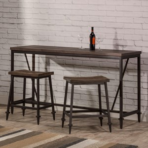 3 Piece Industrial Style Counter Height Bar Set