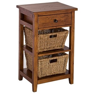 Basket Stand with 2 Baskets and 1 Drawer
