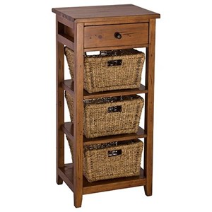 End Table with 3 Baskets and Drawer