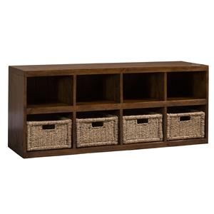 Eight Shelf Storage Cabinet with Baskets