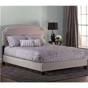 Queen Lani Upholstered Bed w/ Nail Head Trimming