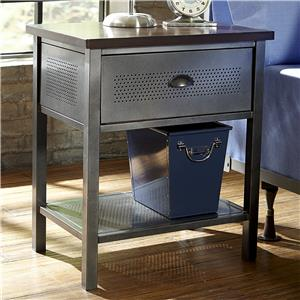 Contemporary Metal Nightstand