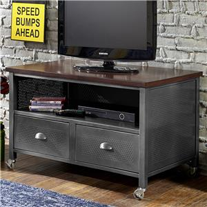 Contemporary Metal Media Chest