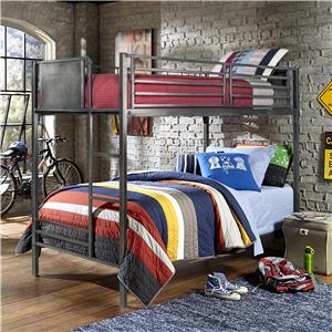 Contemporary Metal Twin Bunk Bed