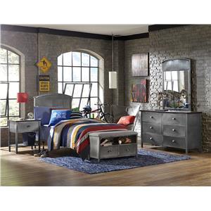 Hillsdale Urban Quarters Twin Bed Set with Footboard Bench
