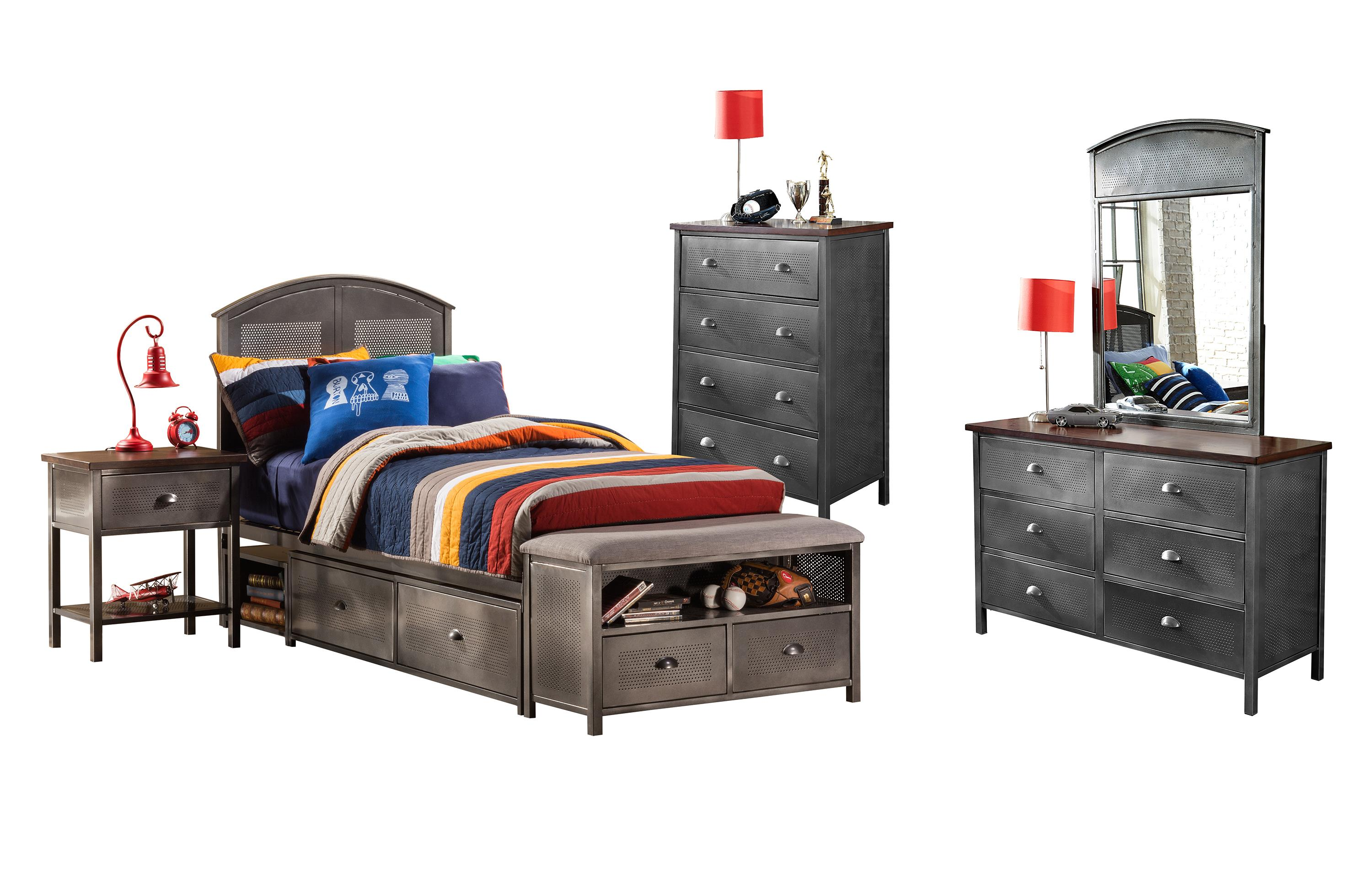 Urban Quarters Five Piece Twin Storage Bed Set by Hillsdale at Stoney Creek Furniture