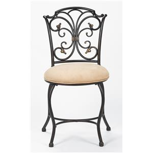 Sparta Vanity Stool with Scrollwork