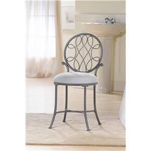 O'Malley Vanity Stool with a Knot Design