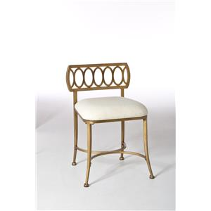Canal Street Vanity Stool with Oval Motif