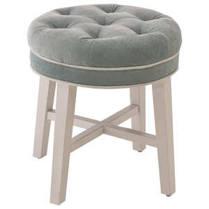 Sophia Vanity Stool with Fabric Seat