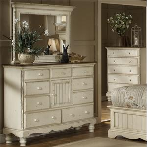 Hillsdale Wilshire Dresser and Mirror