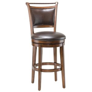 "Hillsdale Wood Stools 26"" Counter Height Calais Swivel Stool"